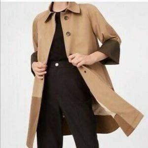 CLUB MONACO Celeste Brown Colour Block Trench Coat Sz XS
